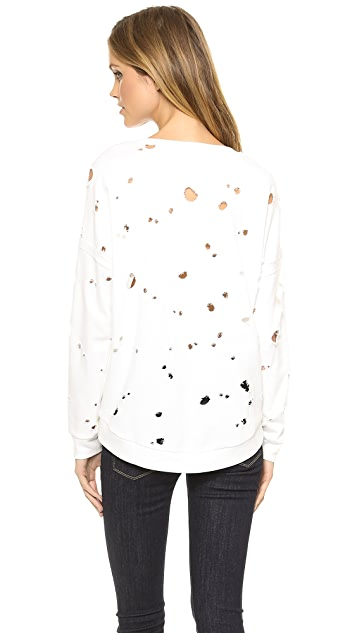Generation Love Jas Distressed Slit Sweatshirt