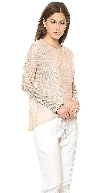 Generation Love Juliet Mesh Long Sleeve Sweatshirt
