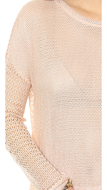 Generation Love Juliet Mesh Long Sleeve Sweatshirt