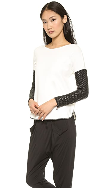 Generation Love Quilted Sleeve Sweatshirt