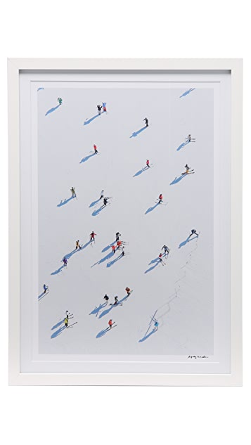 Gray Malin Deer Valley Skiiers Framed Photograph