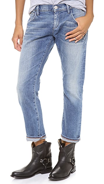 GOLDSIGN His Boyfriend Cropped Jeans