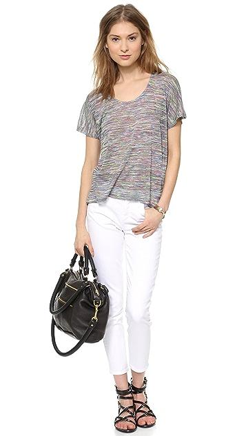 GOLDSIGN Glam Skinny Crop Jeans
