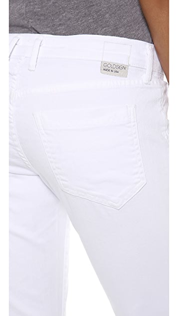 GOLDSIGN His Jean Crop Boyfriend Jeans