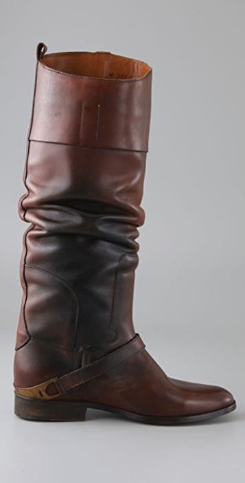 Golden Goose Charlye Pull On Boots with Instep Strap