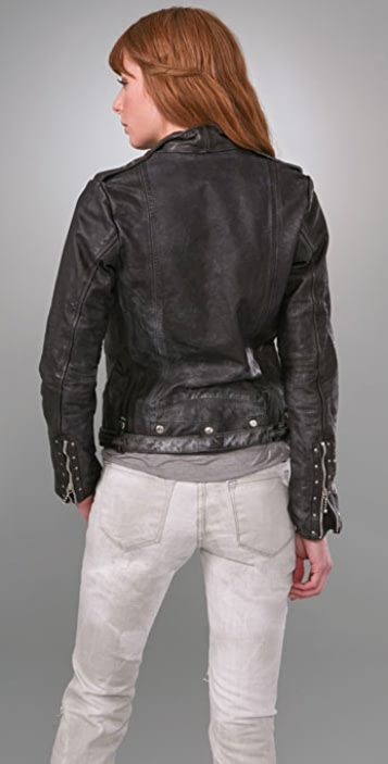 Golden Goose Classic Leather Motorcycle Jacket