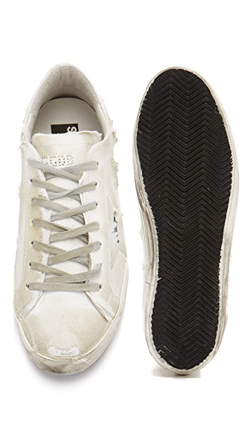 Golden Goose Jersey Covered Superstar Sneakers