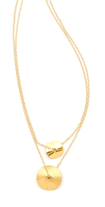 Gorjana Double Petal Necklace