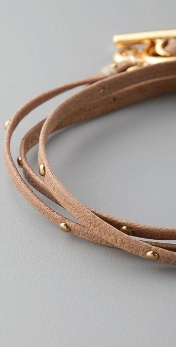 Gorjana Graham Leather Wrap Bracelet with Studs