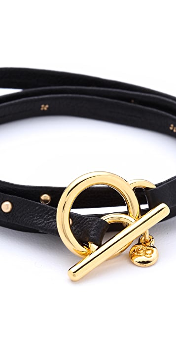 Gorjana Graham Leather Wrap Bracelet with Studs