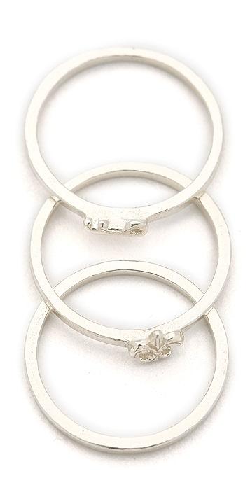 Gorjana Key & Fleur de Lis Stacking Rings