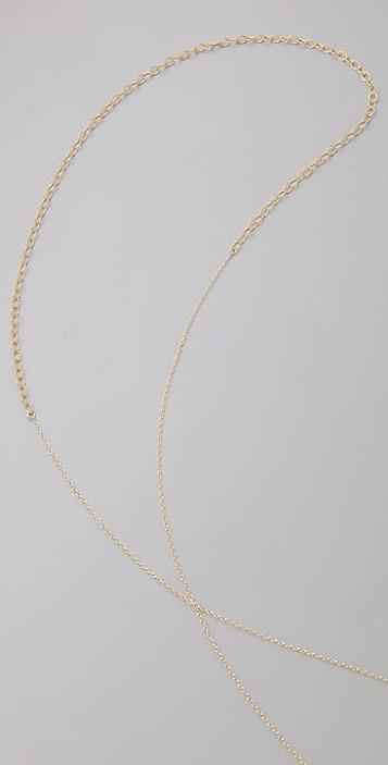Gorjana Feather Lariat Necklace