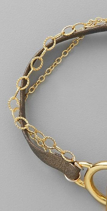 Gorjana Chelsea Leather & Chain Bracelet