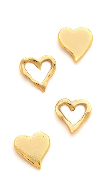 Gorjana Friendship Heart Stud Earrings