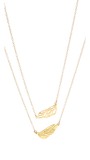Gorjana Friendship Wing Necklaces