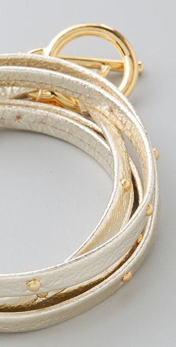 Gorjana Graham Leather Wrap Bracelet