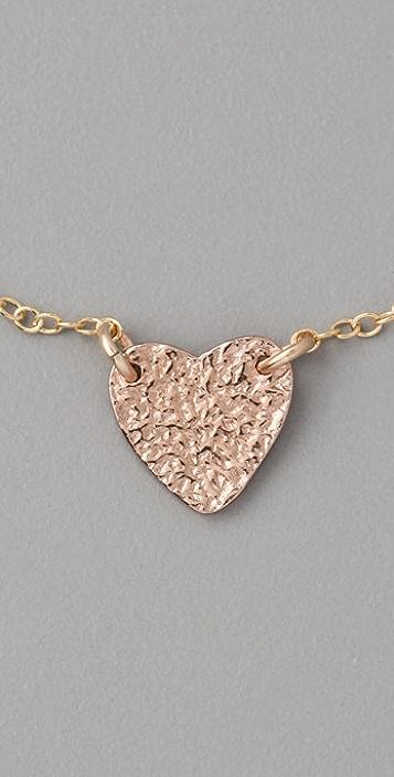 Gorjana Breast Cancer Awareness Heart Bracelet