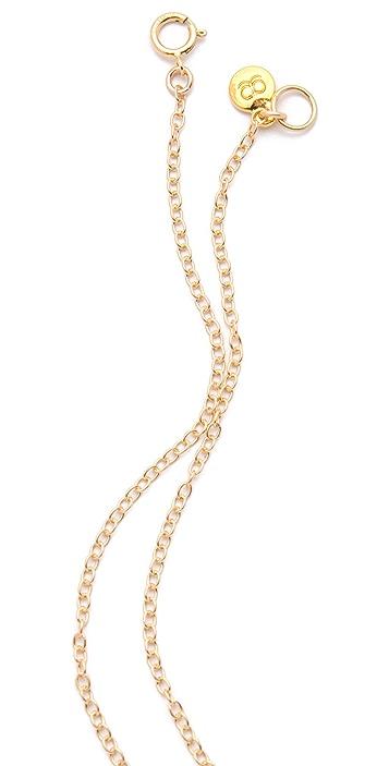 Gorjana Hammered Heart Necklace