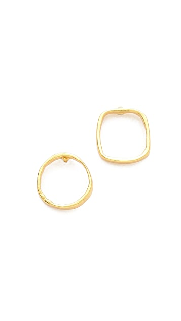 Gorjana Circle & Square Mix Match Studs