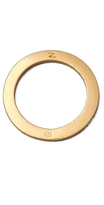 Gorjana Alphabet Stack Ring