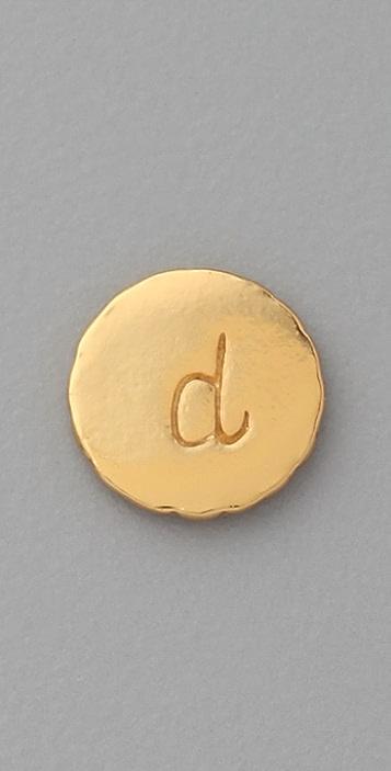 Gorjana Alphabet Single Stud Earring