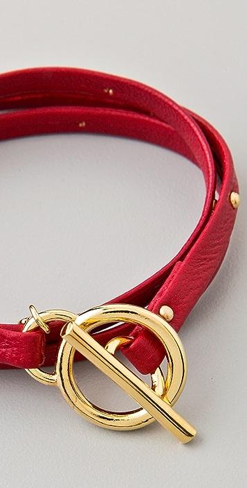 Gorjana Graham Leather Studded Wrap