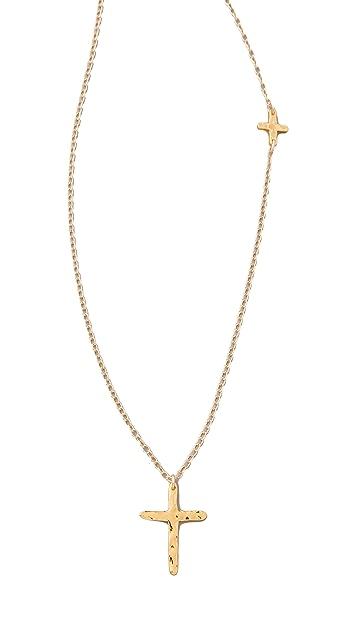 Gorjana Cross Over Long Necklace