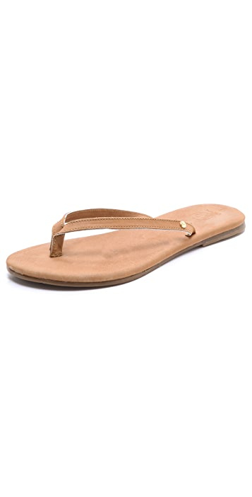 Gorjana Laguna Leather Flip Flops