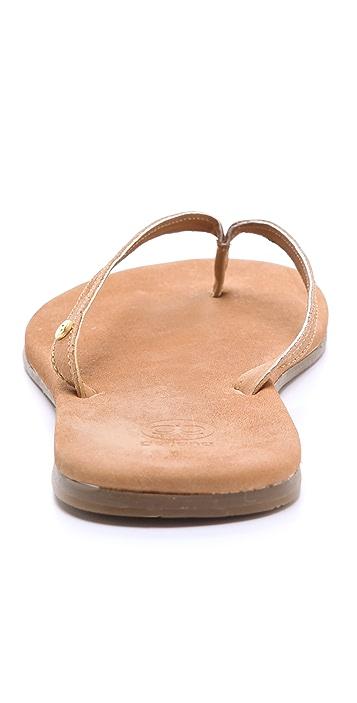 Gorjana Laguna Leather Flip Flops