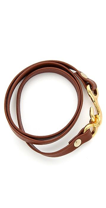 Gorjana Taylor Leather Triple Wrap Bracelet