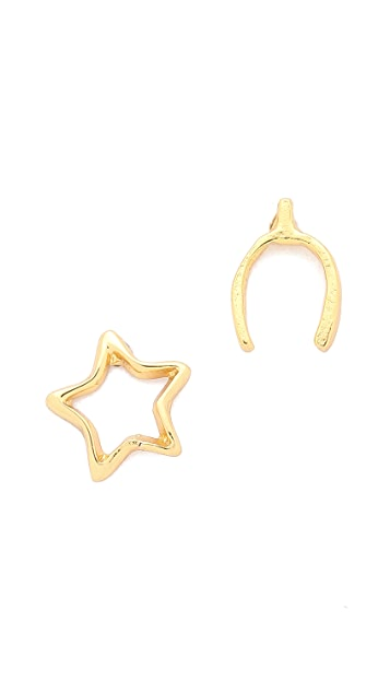 Gorjana Wishbone and Star Stud Earrings