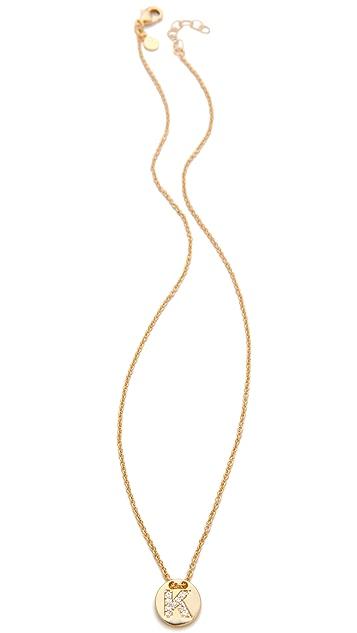 Gorjana Alphabet Coin Necklace