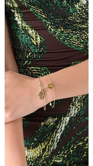 Gorjana All Seeing Disc Charm Bracelet