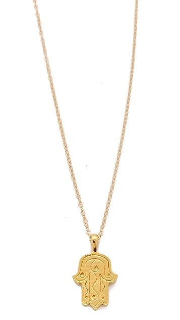 Gorjana Hamsa Charm Necklace