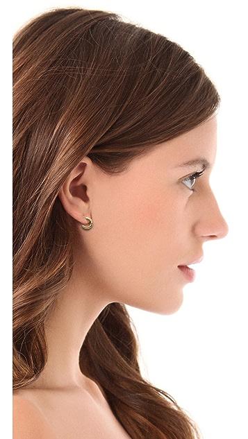 Gorjana Quinn Hammered Mini Hoop Earrings