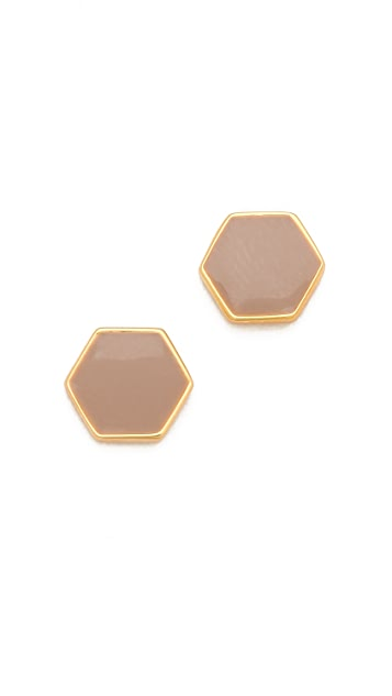 Gorjana Bloom Hexagon Stud Earrings