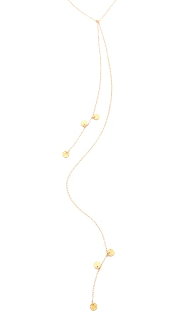 Gorjana Disc Lariat Necklace