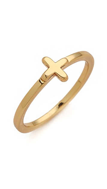 Gorjana Cross Over Mid Finger Ring