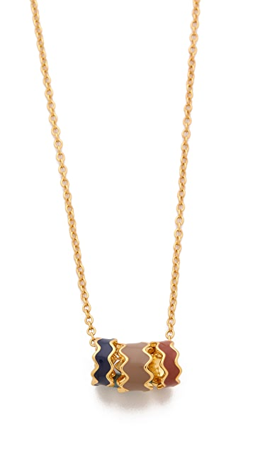 Gorjana Zigzag Enamel Large Necklace