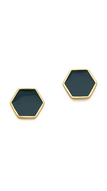 Gorjana Sunset Hexagon Stud Earrings