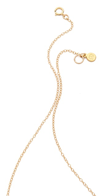 Gorjana G Ring Cluster Necklace