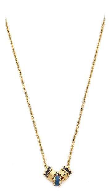 Gorjana Zigzag Enamel Small Necklace