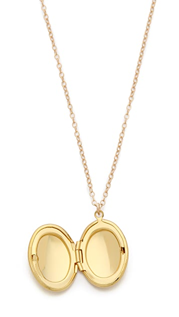 Gorjana Circle Locket Necklace
