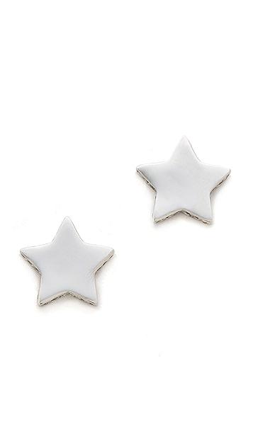 Gorjana Shimmer Star Stud Earrings
