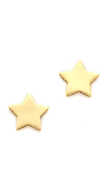 Gorjana Shimmer Star Stud Earrings