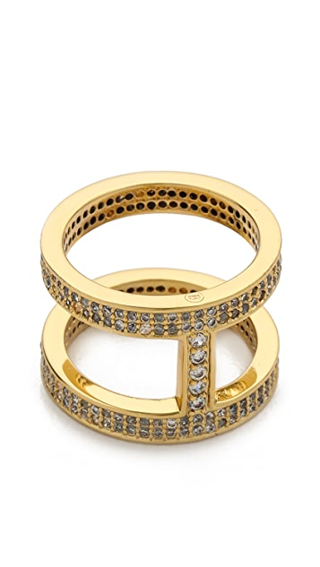 Gorjana Lena Shimmer Double Bar Ring