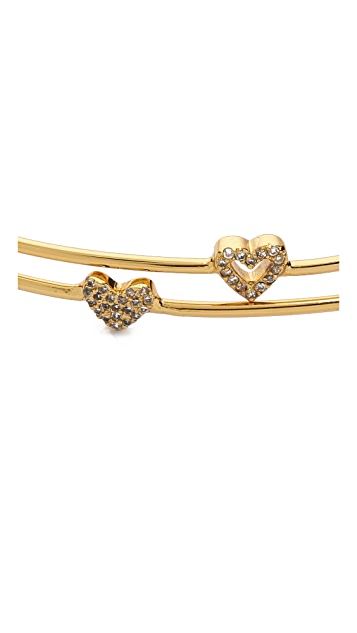Gorjana Shimmer Heart Friendship Bracelet Set