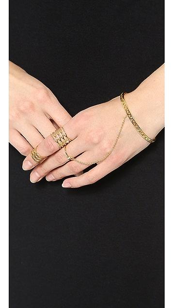Gorjana Mika Ring To Wrist Handpiece