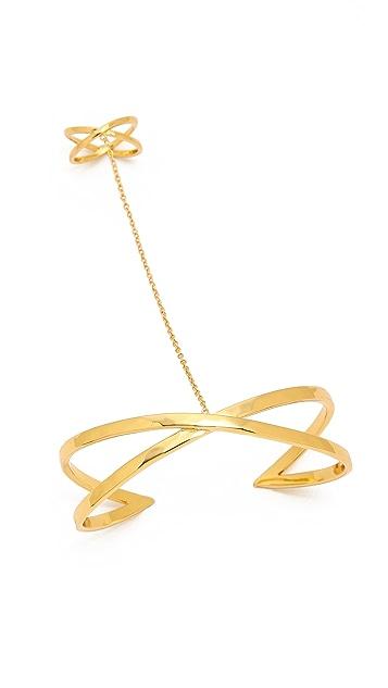 Gorjana Elea Ring to Wrist Cuff Bracelet