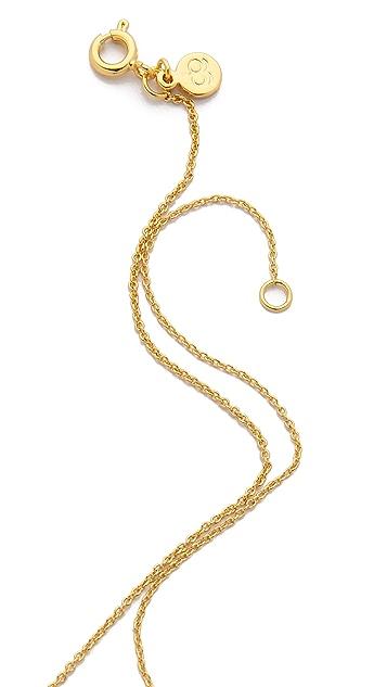 Gorjana Shimmer Disc Necklace